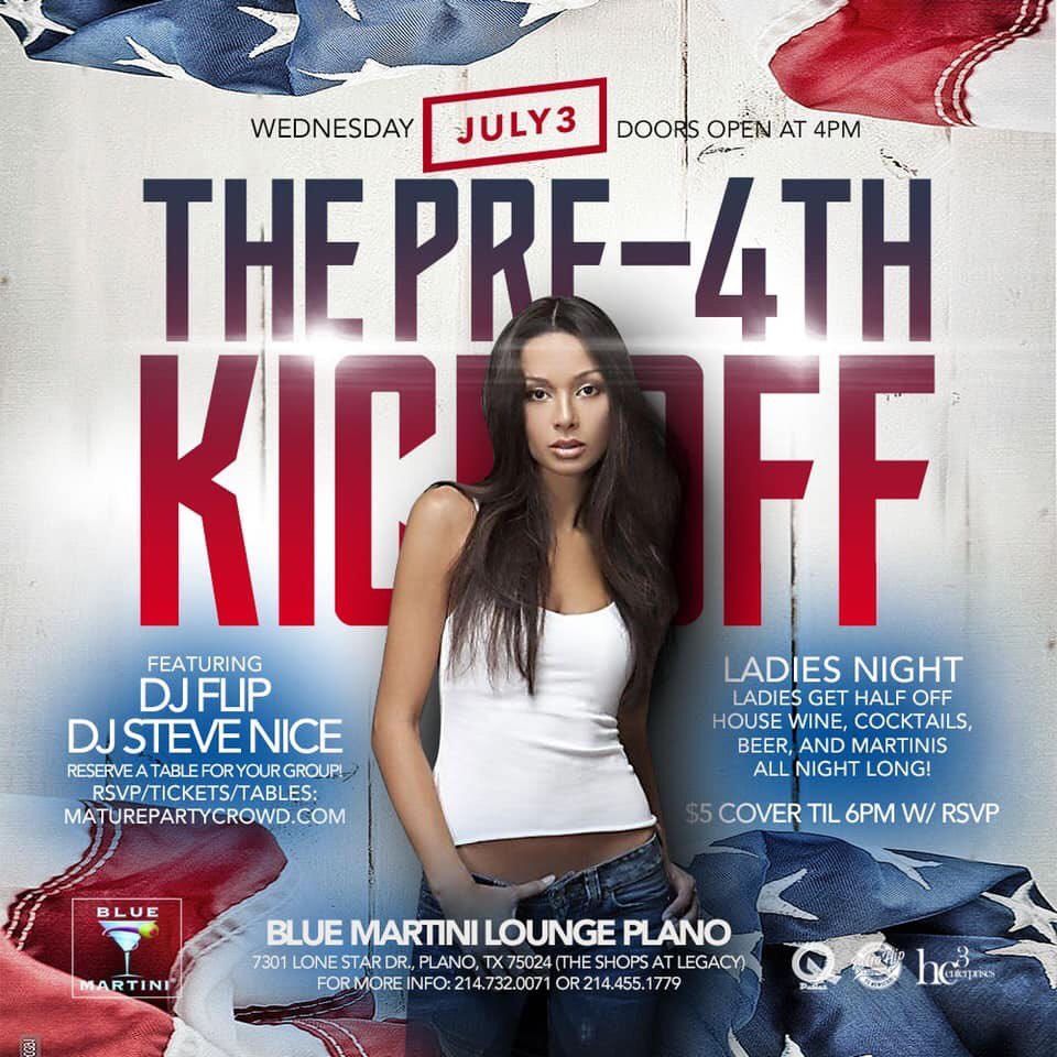 July 3rd at @BlueMartini_TX in Plano @shopsatlegacy !!