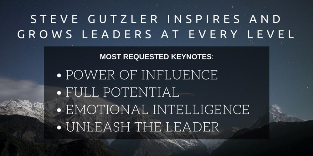 According to the U.S. Journal of Business, approximately 76% of people who leave a business do so for feelings of indifference.  Being raised in the restaurant business, my father taught each employee our three keys to success...   Learn more: https://www.stevegutzler.com/emotional-intelligence-for-customer-service/…