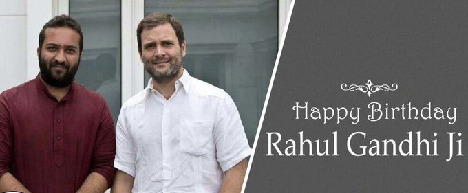 Happy birthday to my leader and mentor Rahul Gandhi ji.