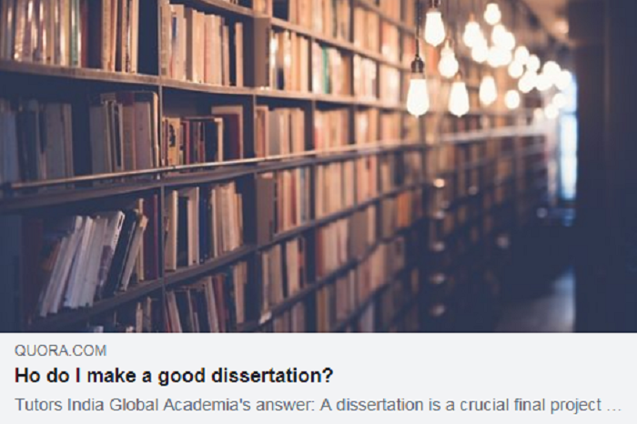 How do I make a good #dissertation? - https://bit.ly/2Xop6OW  #phdlife #phdchat #PhD #phdadvice #AcademicTwitter #academic #Academia #researchers #researcherinafrica #DataAnalytics #assignment #UnitedKingdom #TutorsIndia Contact: info@tutorsindia.com | https://bit.ly/2KwZI3B