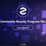 Image for the Tweet beginning: Zebi Community Bounty Program -