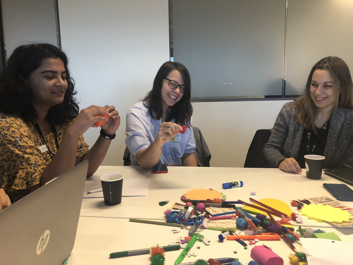 A colourful, crafty start to our final #UNSWWomenChamps workshop!   Bringing back the fun of primary school into our reflections on the Champions program, it's successes, and how to keep building our careers from here.  @UNSWScience #PhDchat #phdlife