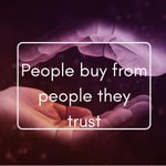 Image for the Tweet beginning: People buy from people they