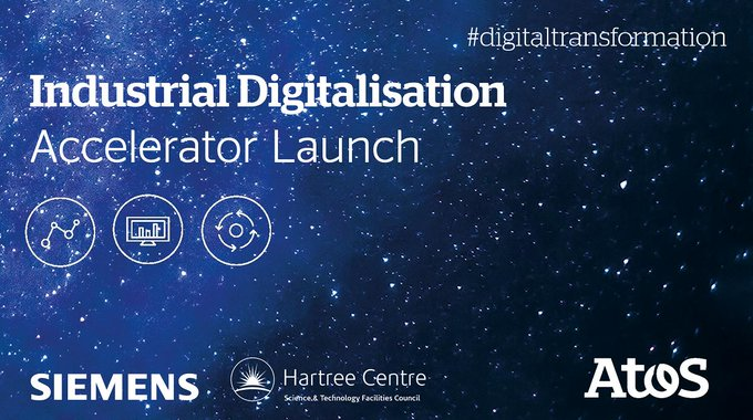 Announcing the new Industrial Digitalisation Accelerator from Atos, @HartreeCentre,...