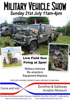 Poster for Military Vehicle Show