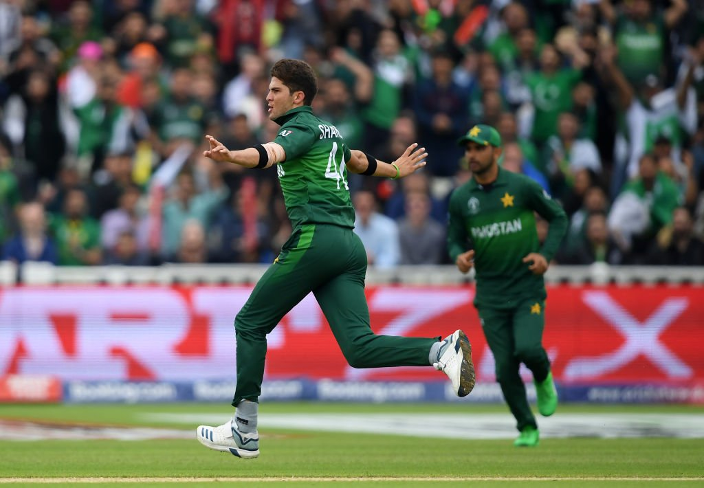Sensational from Shaheen Afridi!  He picks up his third of the day, Latham goes for one and New Zealand are in trouble on 46/4.   #CWC19 | #NZvPAK | #WeHaveWeWill