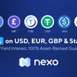 Image for the Tweet beginning: Nexo is now paying 8%