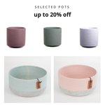 Image for the Tweet beginning: 20% off selected #pots #ceramics