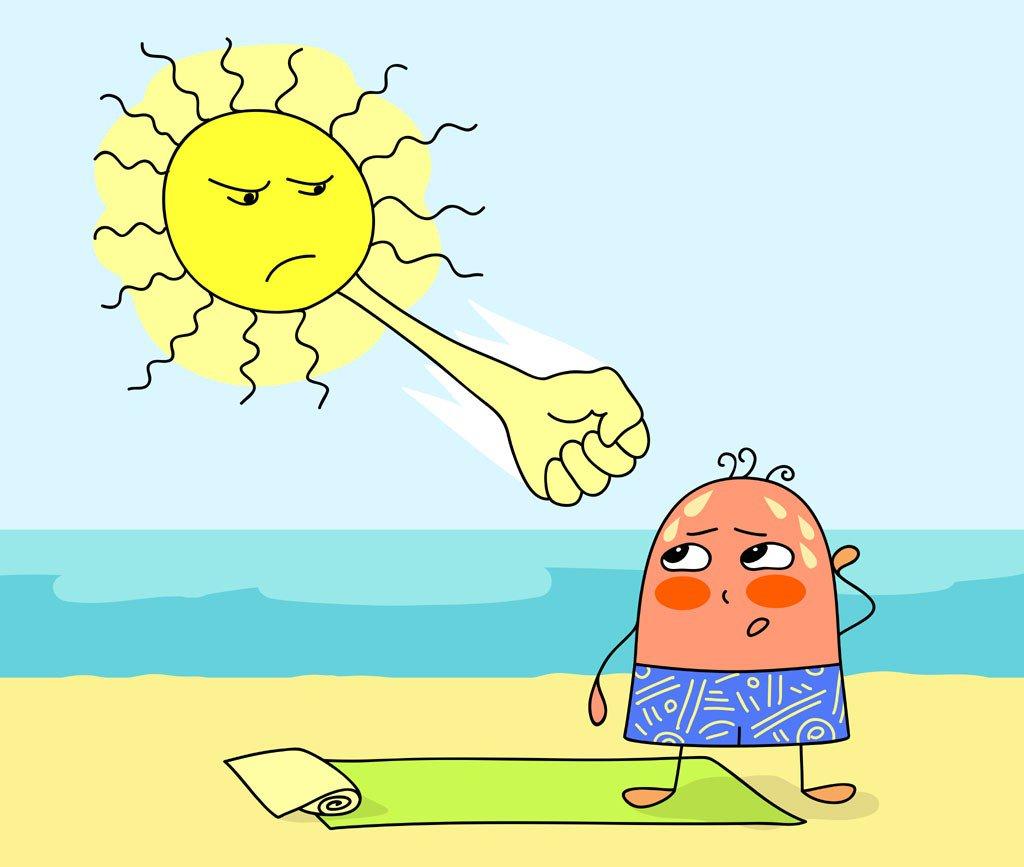 Картинки смешные жара и солнце, месяц ребенку картинках
