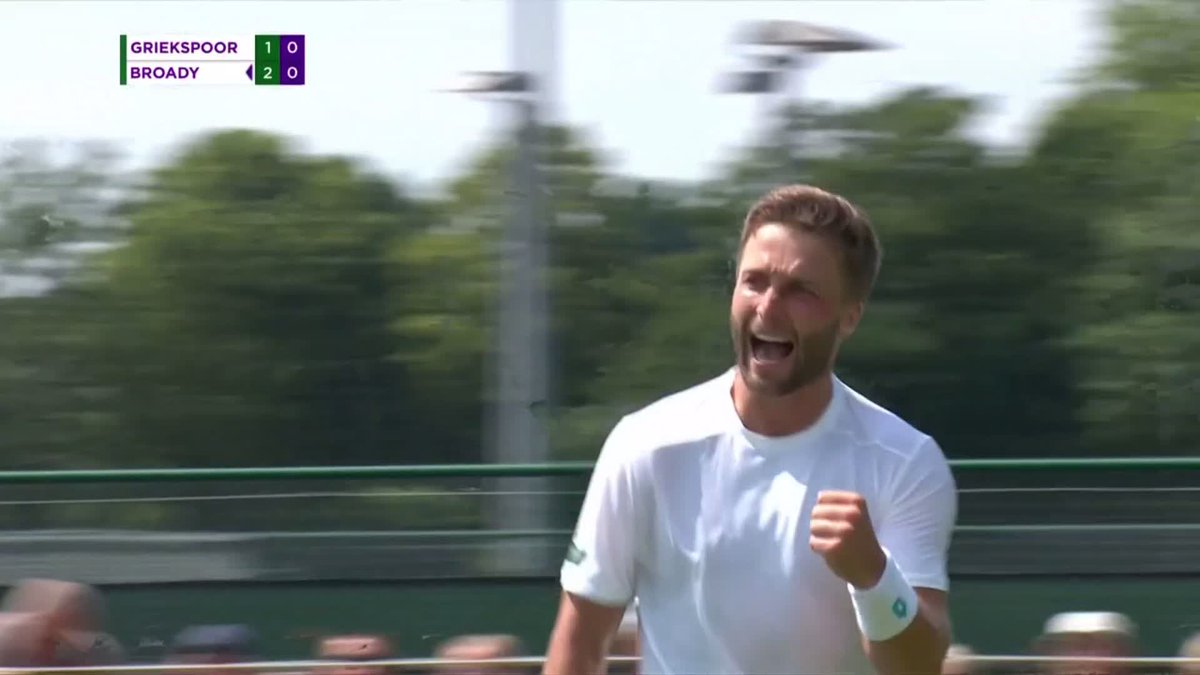R1: Andrej Martin ✅R2: Tallon Griekspoor ✅@Liambroady will face either Barrere or Dutra Silva for a place in the #Wimbledon main draw...