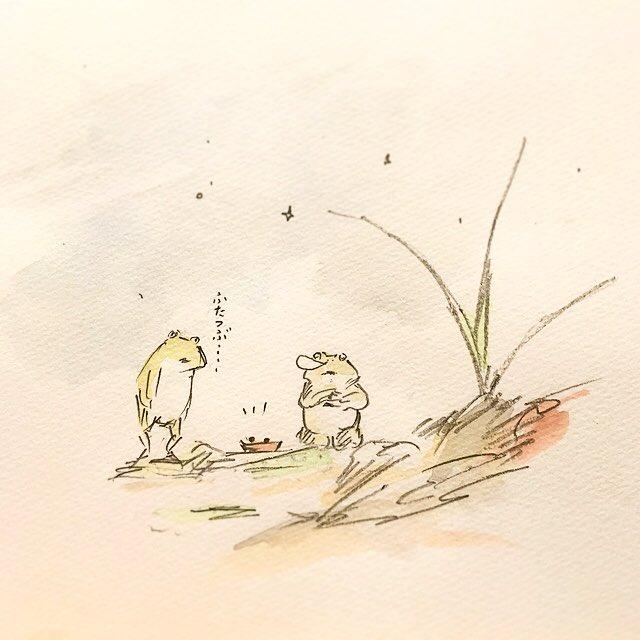 タピオカガエルを助けるタピオカガエル。