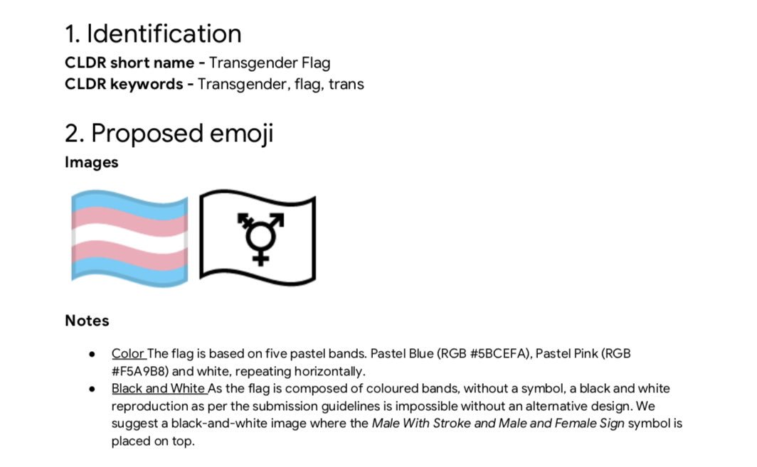 Transgender Pride Flag Emoji Proposal - Part 3 - May, 2019
