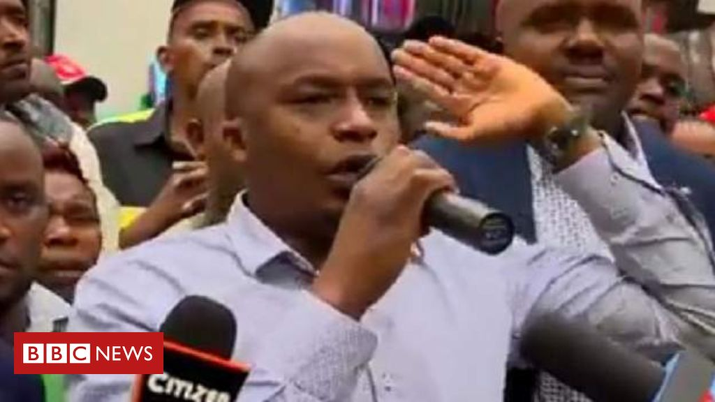 """When you look at our market, Tanzanians and Ugandans have taken our business, enough is enough"" - Kenyan MP Charles Njagua Kanyi is caught in a video saying he would beat up foreign traders if they did not leave the country https://bbc.in/2NfnBhZ"