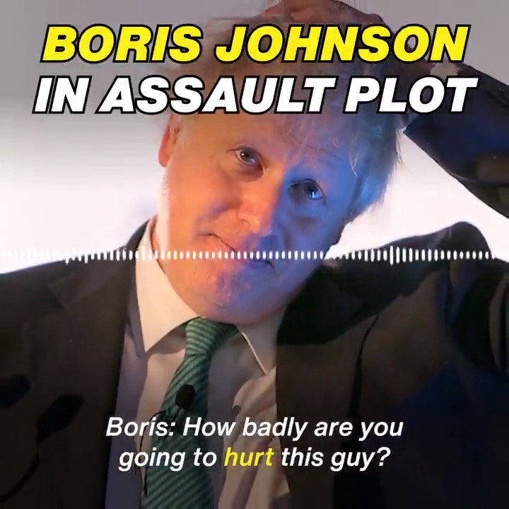 For all of you who have asked to hear the recording of the phone call where @BorisJohnson is clearly heard agreeing to help to have a journalised seriously assaulted, here is is. Again, the @Conservatives would not want this RT'd: