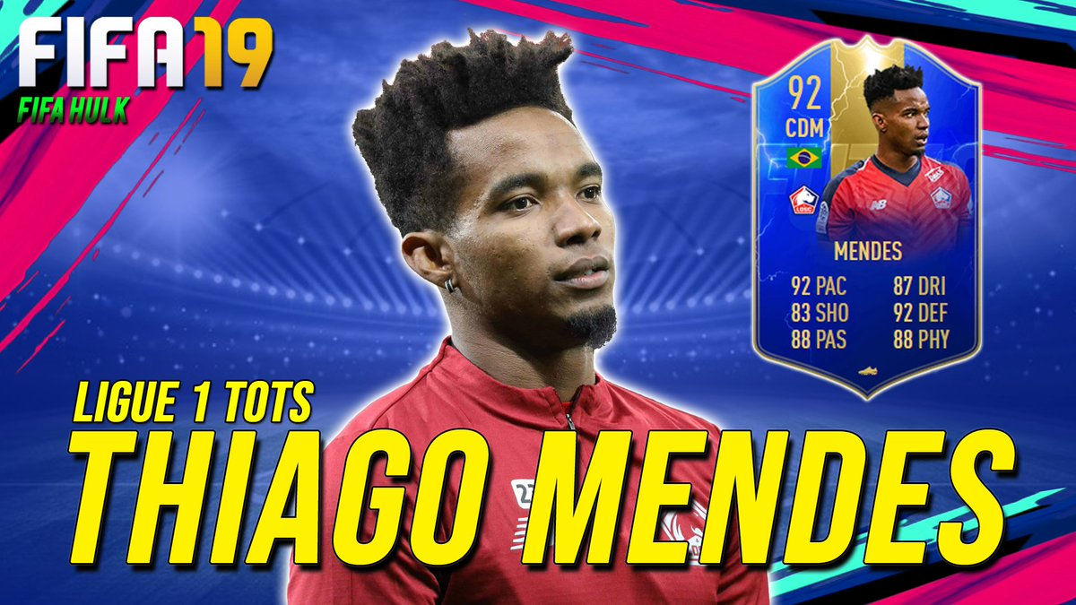 FIFA19 TOTS 92 THIAGO MENDES REVIEW w/ DETAILED PERFORMANCE STATShttps://youtu.be/431W3mqk6oY #FIFA19 #TOTS #LOSC #ThiagoMendes #Ligue1 #TOTSReview