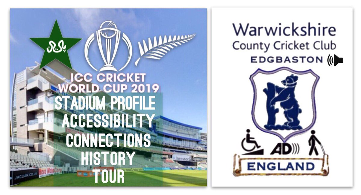 A pitch side view of the impressive new stand at Edgbaston complete with media Centre ICC Cricket World Cup 2019 Stadium profile accessibility connections history tour Pakistan versus New Zealand Warwickshire County Cricket club Edgbaston Birmingham England visually impaired wheelchair access