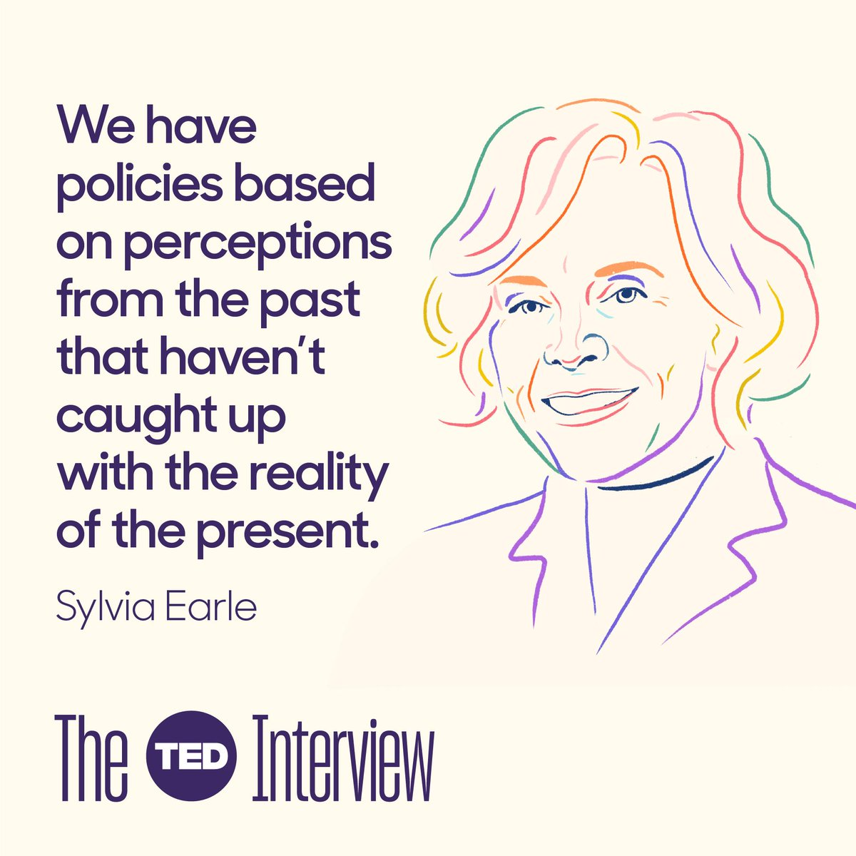 Excited to share this episode of #TheTEDInterview featuring the iconic marine scientist and lifelong advocate for the oceans, Her Deepness @SylviaEarle. An hour of wonder, insight and concern.