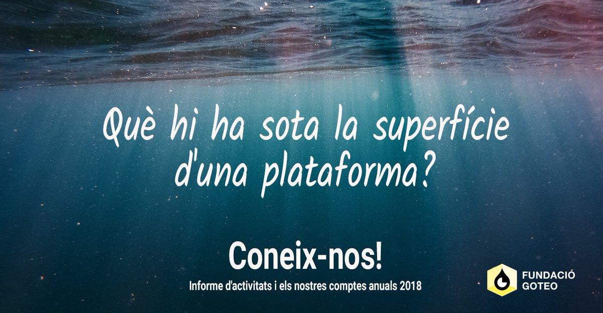 """¿Vols saber-ho tot sobre Goteo? 💧 ¿Què fem? 💦 ¿Quin és el nostre impacte? 🌊  Un any més publiquem comptes i informe d'activitats per mostrar-vos tot en una profundidat """"oceànica"""" 😜🐚  🔍http://goteo.cc/informe2018 🔍http://goteo.cc/cuentas2018    #opendata #crowdfunding #commons"""