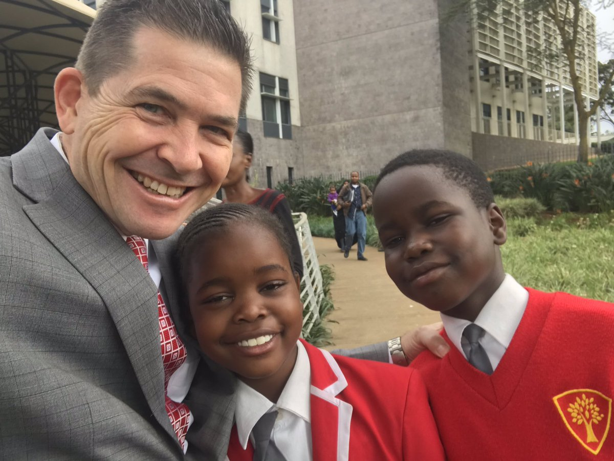 Image result for US Ambassador to Kenya criticized online after posting photo of two students shortly after they were denied visa