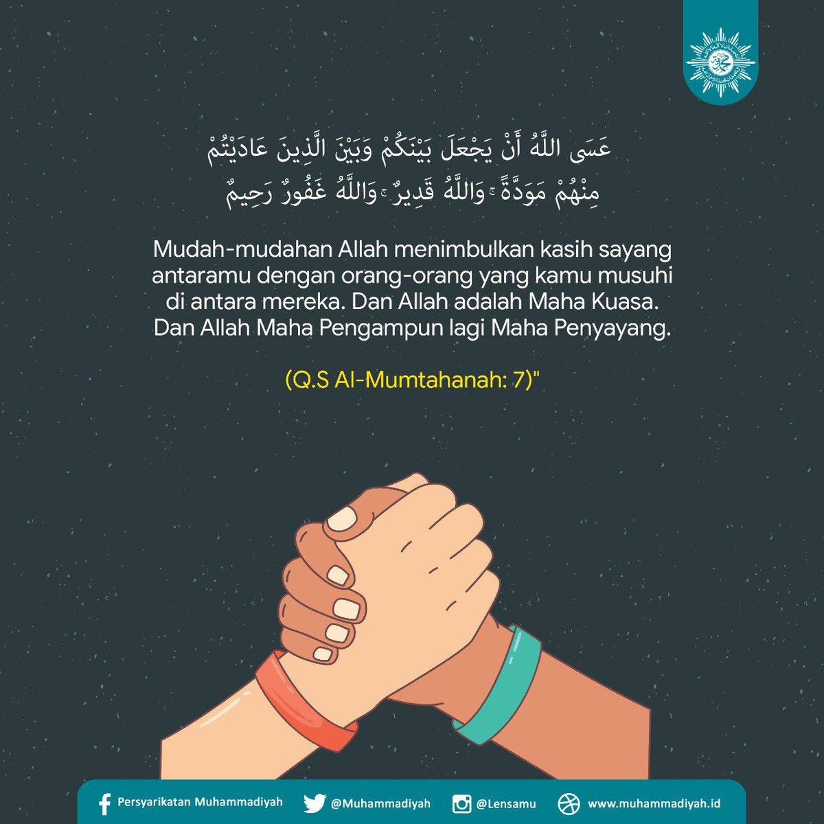 Muhammadiyah On Twitter Rasa Cinta Dan Kasih Sayang Tumbuh Dari Allah Subhanahuwata Ala Diantara Orang Orang Beriman Dan Orang Orang Musyrik Di Mana Allah Memberi Petunjuk Kepada Mereka Untuk Masuk Islam Sehingga Mereka Menjadi Saudara Saudara