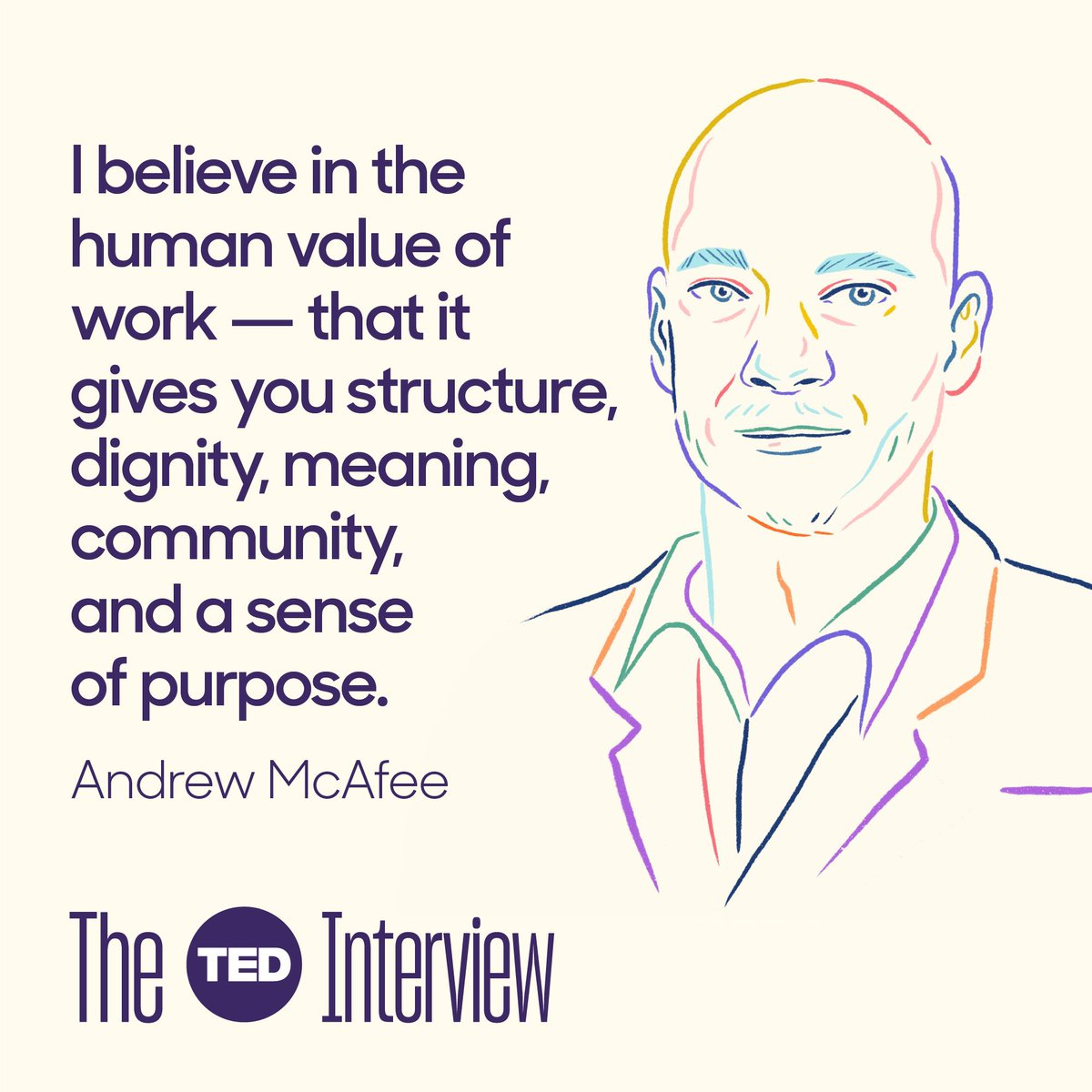 Latest episode of #TheTEDInterview features Andy McAfee @amcafee who is so compelling on how our economy is going to be transformed by technology... for better and worse. https://bit.ly/2JRTk5w  We talk AI, Robots, productivity, UBI, and the future of capitalism itself.