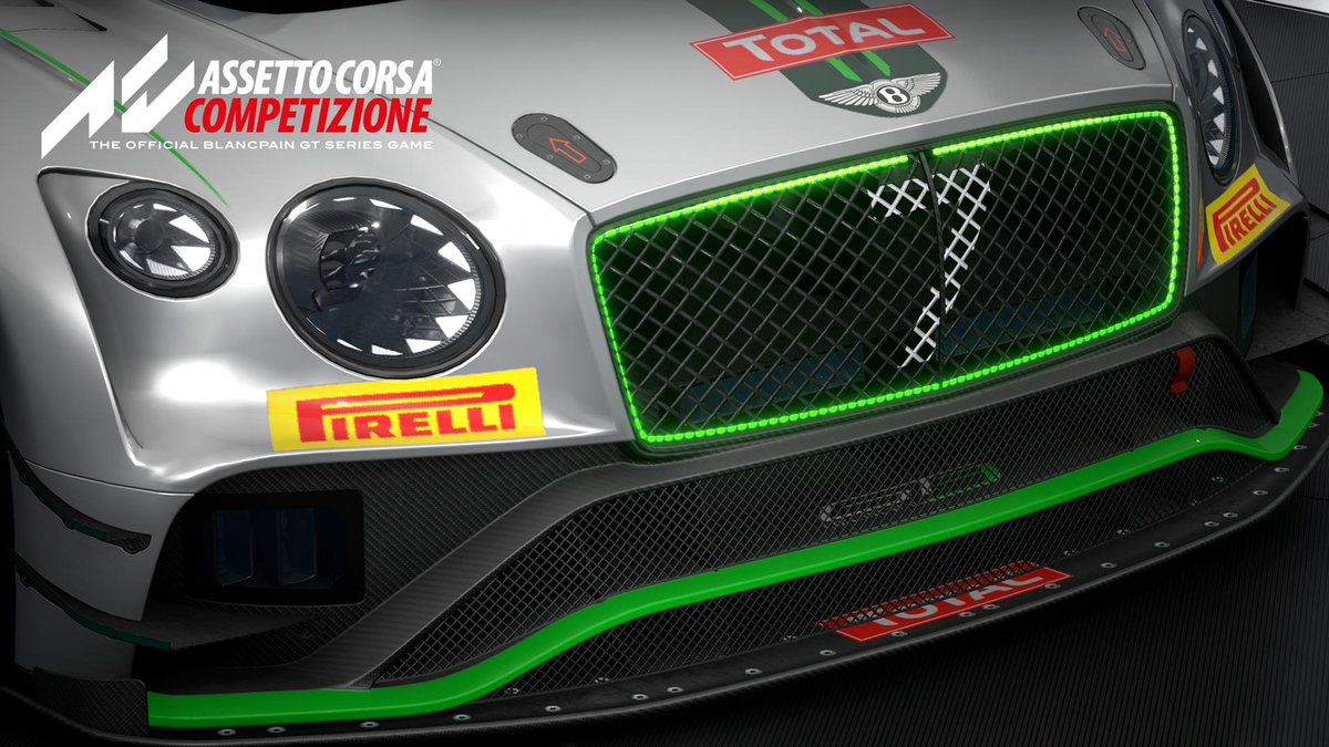 Introducing: Bentley Continental GT3, available now in Assetto Corsa Competizione.  Featuring 51 teams, 280 selectable drivers and 14 manufacturers, ACC is OUT NOW on Steam! ➡️ https://bit.ly/2uVc4sJ  #beACC