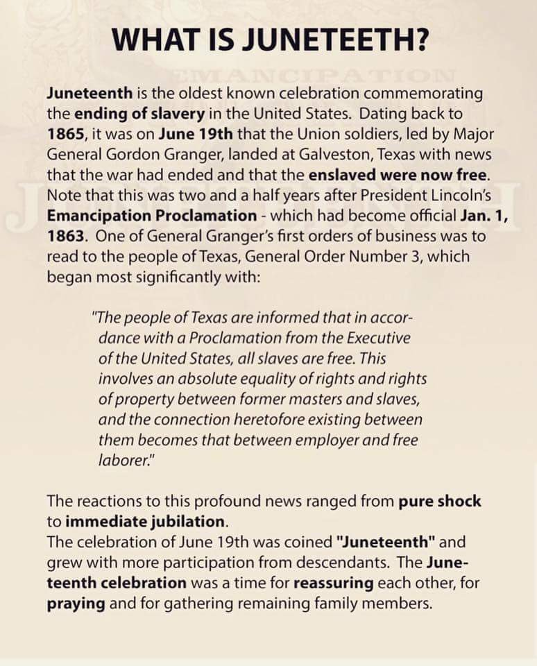Happy Juneteenth MY BEAUTIFULLY MELINATED, UNAPOLOGETICALLY BLACK PEOPLE. 👐🏾👏🏾💪🏽 #Juneteenth2019