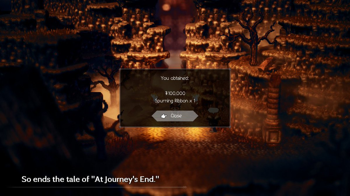I did it! I'm done with Octopath!!