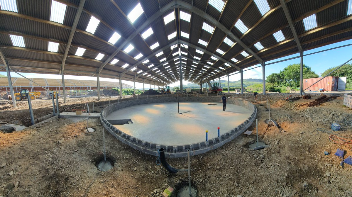 Block wall in and backfilled, ducts in and skirt posts in @WaikatoMilking @ShepherdDairyS @CERES_AG #TeamDairy #Rotary #expansion #tomorrowspaperstoday