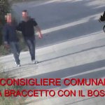 Image for the Tweet beginning: Boss e politici a braccetto