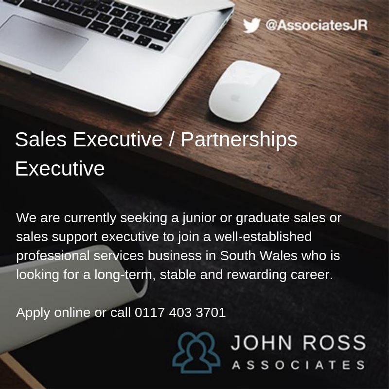 #PartnershipsExecutive #Senior & #Junior  http://johnrossassociates.co.uk  #Cardiffjobs #SouthWalesjobs #SouthWestjobs #CardiffCareers #Newportjobs #Chepstowjobs #Salesjobs #Marketingjobs #Partnerships