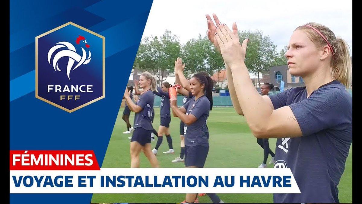 Les Bleues sont bien arrivées au Havre où elles disputeront dimanche leur 8e de finale de Coupe du Monde 💪 #FiersdetreBleues #FRA
