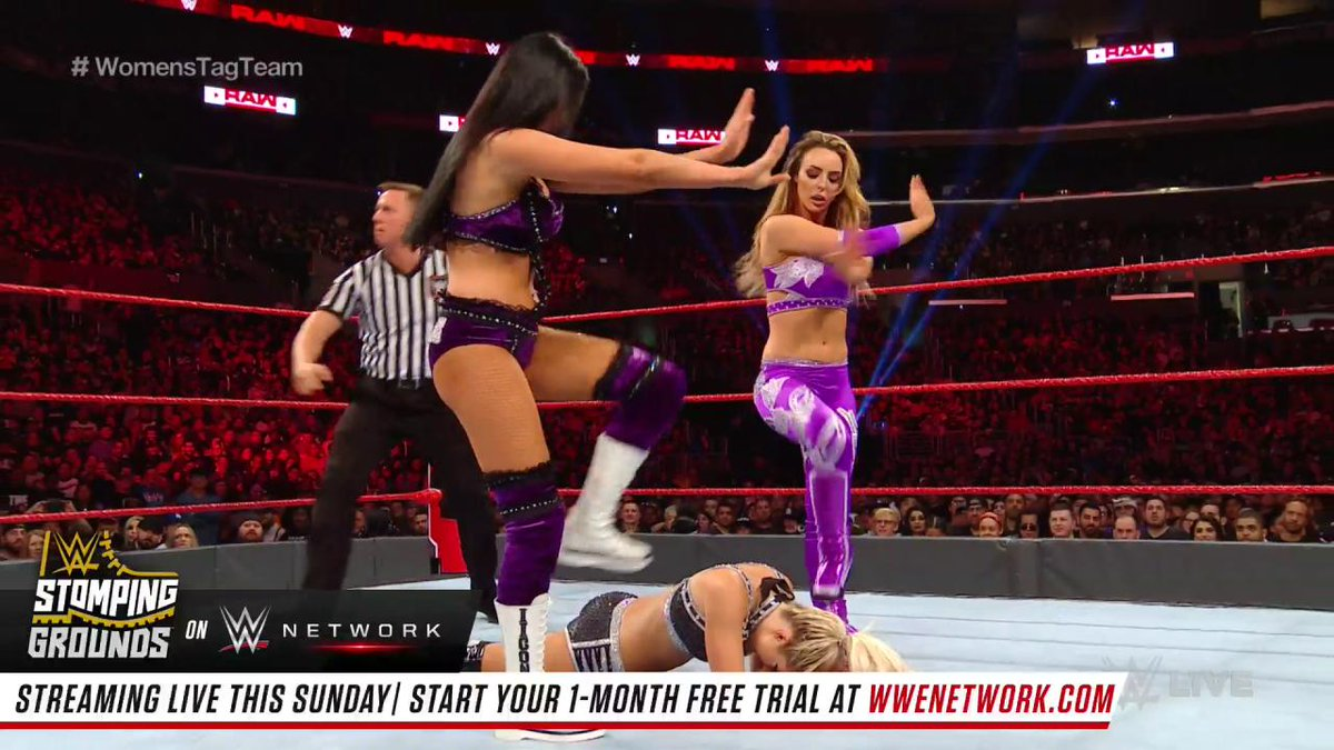 It was the biggest opportunity of @NikkiCrossWWE's career to date when she and @AlexaBliss_WWE challenged @BillieKayWWE & @PeytonRoyceWWE for the @WWE #WomensTagTeam Championship on #RAW!