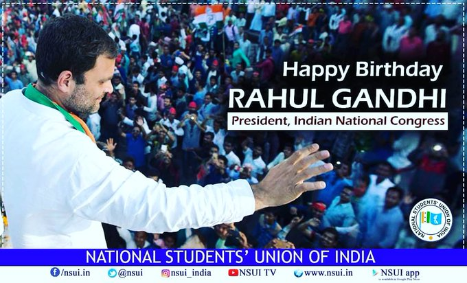 Wishing A Very Happy Birthday to Our beloved  Leader Sri Rahul Gandhi ji