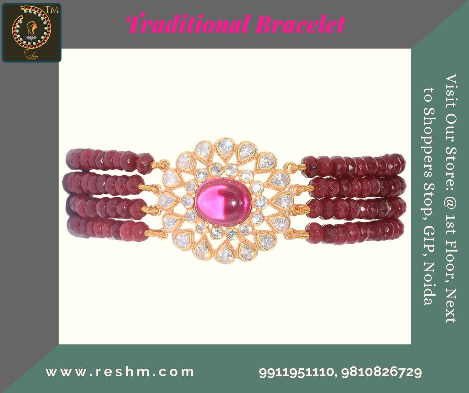 Traditional Bracelet by Reshamm Shop now :  or Visit our store @ 1st Floor Next to Shoppers Stop GIP Noida #reshamm #Lightweightgoldjewellery #jewelleryinnoida #jewelleryindelhi #jewelleryinncr #goldlovers #jewelleryfans #fashion #designerjewellery