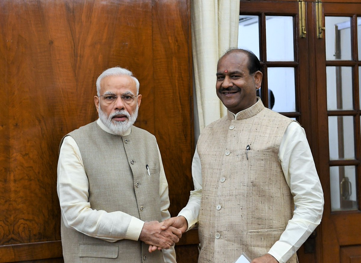 Congratulations to Shri @ombirlakota Ji on being unanimously elected the Speaker of the Lok Sabha. He has been associated with public life since his student days and has worked compassionately for the poor and downtrodden. My best wishes to him for the tenure ahead.