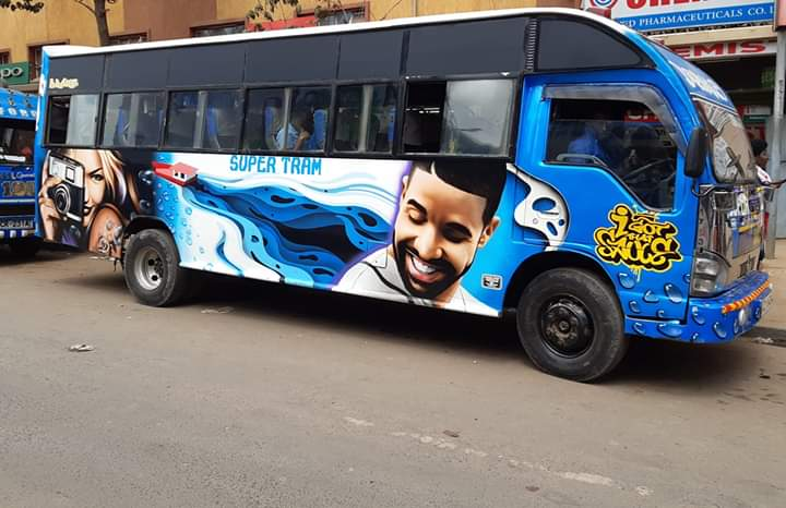 Clean Drizzy @Drake potrait by the great Marto..its a good day to smile #art  #artandthestreet  #StreetArt  #Streetgraffiti  #streetphotography #PhotographyIsArt #photographyeveryday #photography #Cars #magicalkenya #Matatu #Matatuindustryreborn