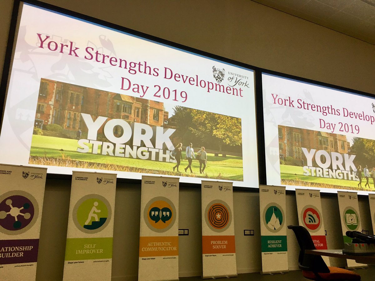 The last day of our #YorkStrengths programme for 2019. Over 700 @UniOfYork students have participated and discovered their Strengths to help focus their future career choices.