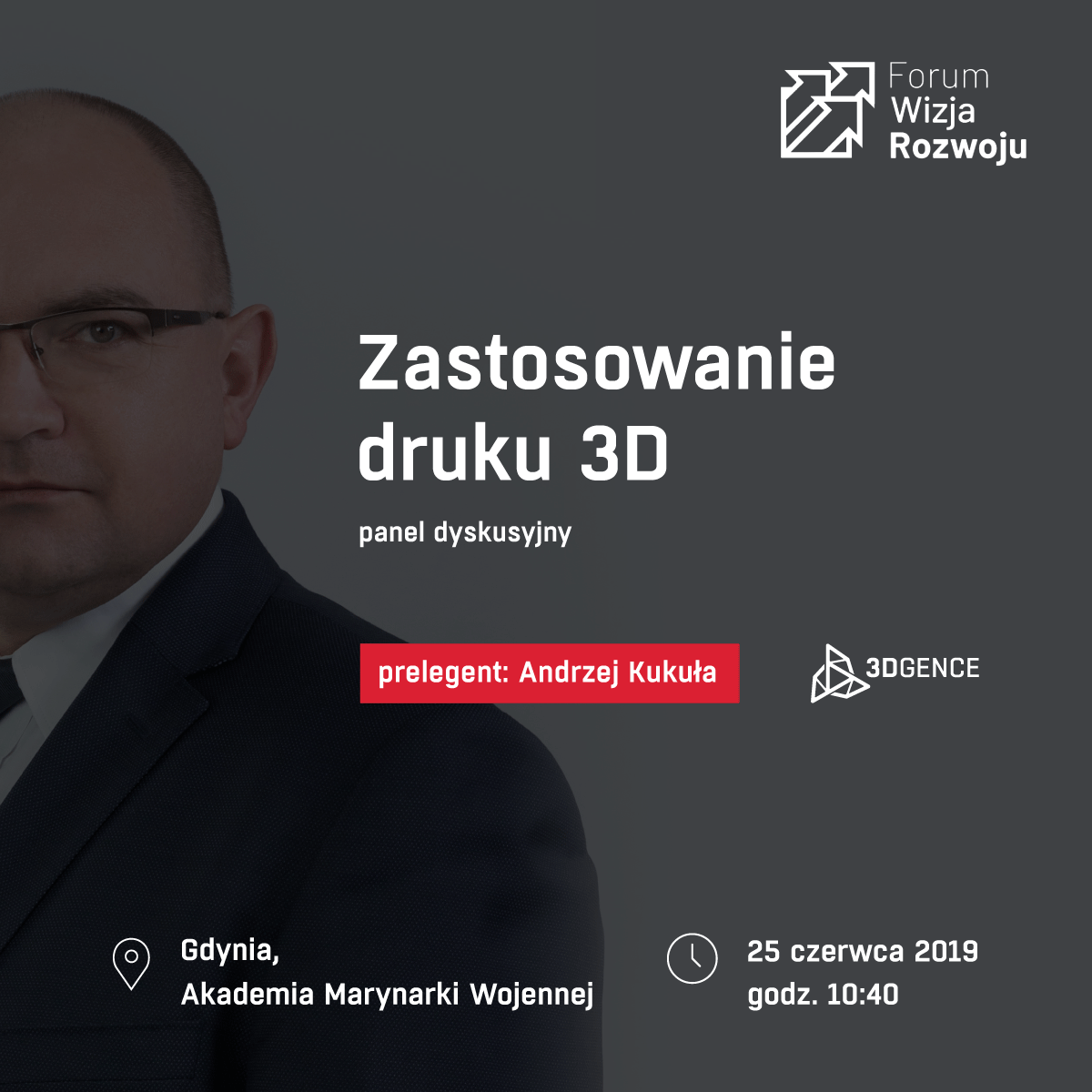 What are the benefits of implementing #3Dprinting technology in industrial enterprises? What changes will take place in the industry over the next few years? These questions will be answered by President of the Board #3DGence during  #WizjaRozwoju in #Gdynia.