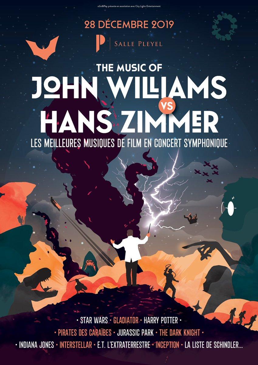 """NOUVELLE DATE à l'évènement """"The Music Of John Williams Vs Hans Zimmer"""" Dimanche 29 décembre à la @sallepleyel  redécouvrez vos musiques de films préférées lors d'un concert symphonique exceptionnel"""
