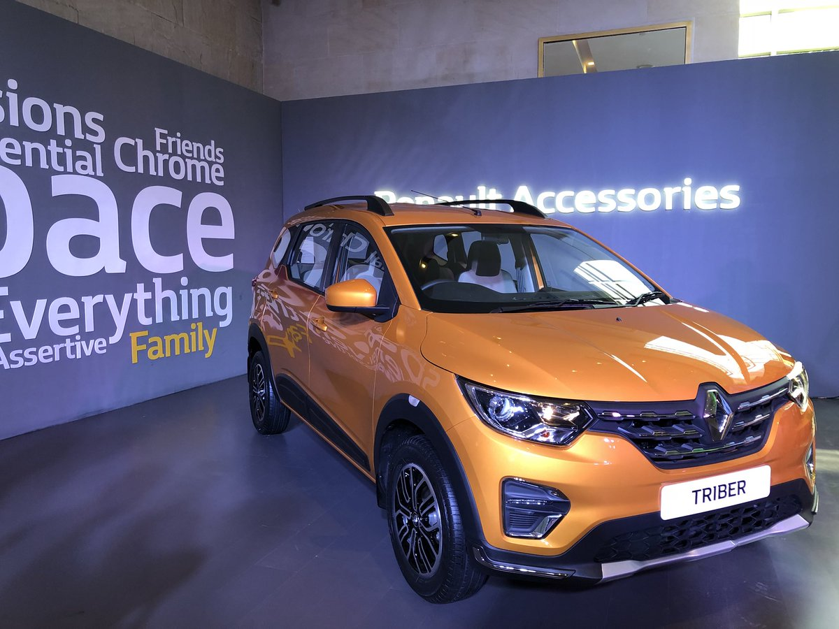 #RenaultTriber is fitted with a 1.0L 3-cylinder petrol engine generating 72Ps with 96Nm torque #BeTheTribe #Renault #Triber