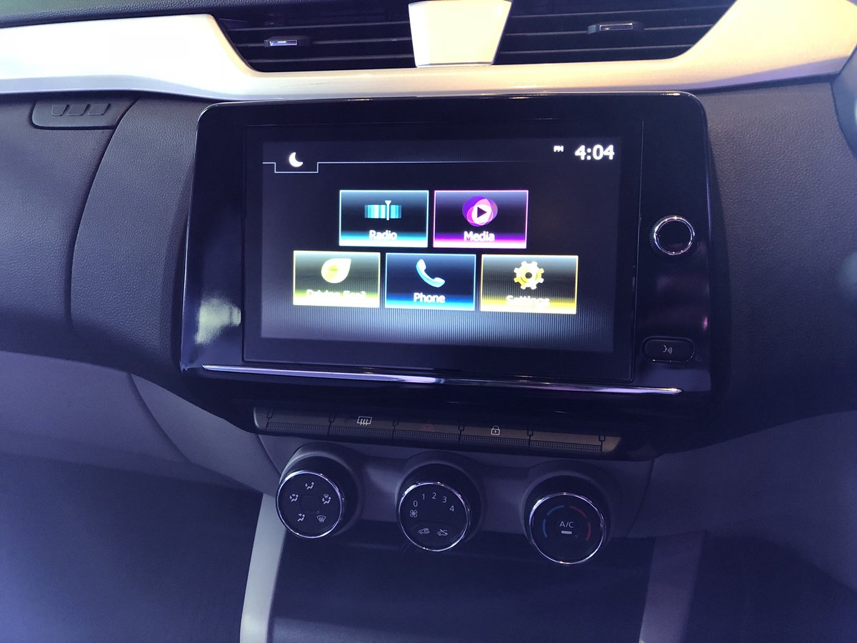 #RenaultTriber has a 20.32 cm (8-inch) multimedia touch screen features the MediaNav Evolution connected multimedia system #Renault #Triber #BeTheTribe