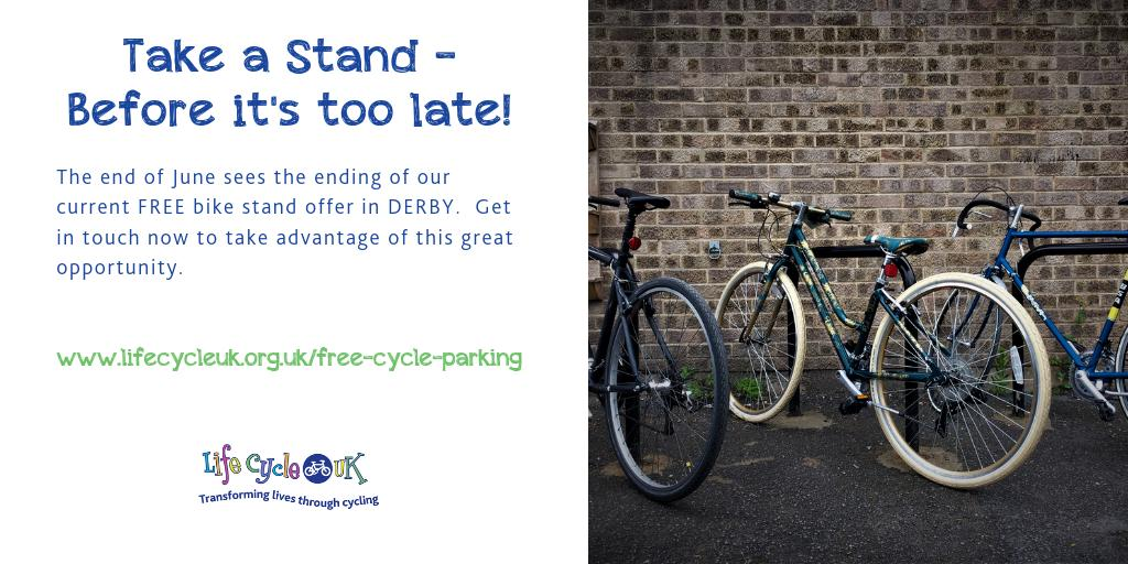 We can still get you free bike stands, but not for long!