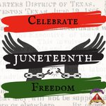 Image for the Tweet beginning: Today is Juneteenth where we
