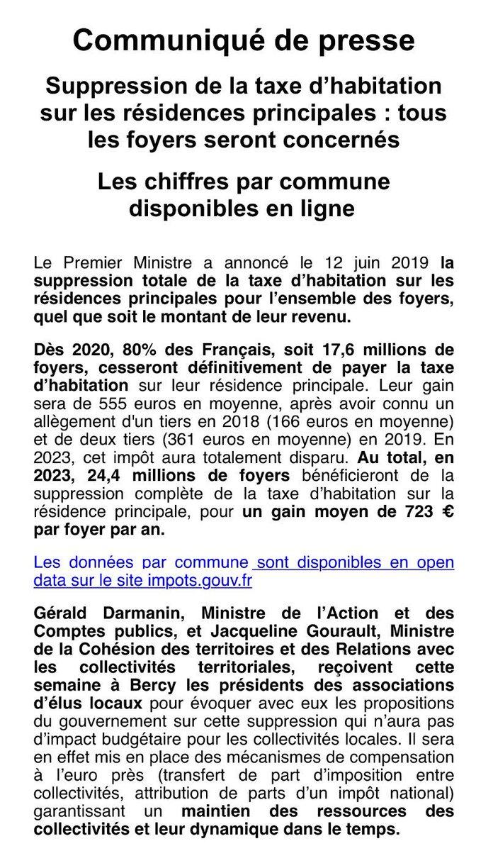 data impot taxe fonciere 2020