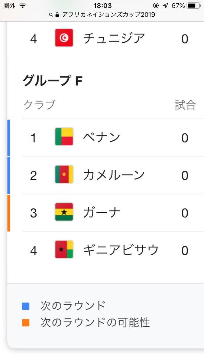 アフリカネイションズカップ2019...