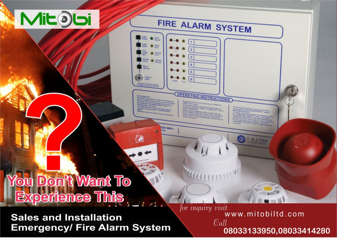 Be proactive, no one hopes for a disaster. But if it can be prevented, by all means do the needful. #Mitobisecurity #firealarm #detectors #smokedetectors #gasdetector #fireblanket #sprinklersystem #siren #alarmparnel #firealarmsystem #prevention #safety #security #techy