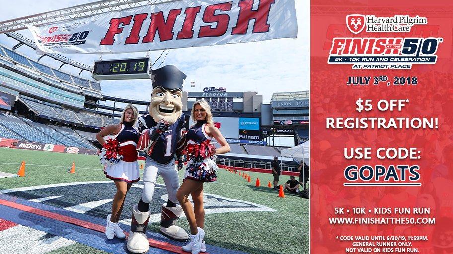 2⃣ weeks from today!  Register for @Finishatthe50 at @GilletteStadium: http://www.finishatthe50.com