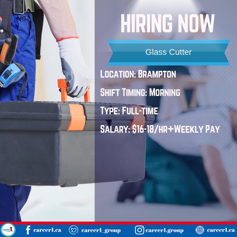 JOB OPPORTUNITY FOR GLASS CUTTER  #glasscutter #jobs #employment #canada #toronto #brampton #mississauga #oakville #gta #temporary #permanent #work #staffing #recruitment #agency #jobopportunity #jobseeker