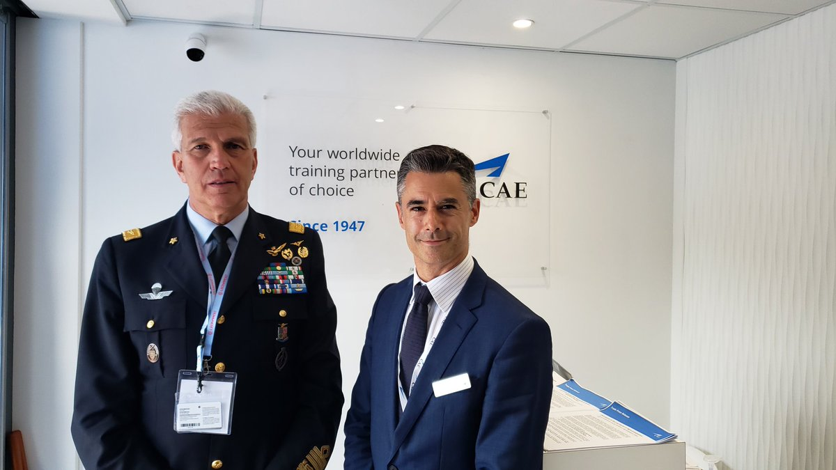 ba4509819ae Settimo Caputo & staff for visiting with CAE's VP/GM Europe Marc-Olivier  Sabourin & @CAE_Inc team during @salondubourget #ParisAirShow2019 ...